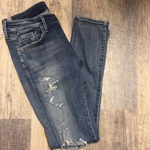 Citizens of humanity distressed holey jeans